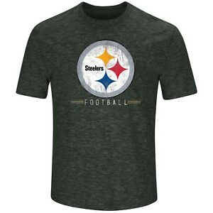 85fa310a409 NFL Pittsburgh Steelers Majestic Men's Hyper Stacked Short-Sleeve T ...