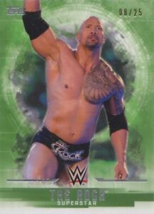 THE ROCK #/25 GREEN PARALLEL 2017 Topps WWE Undisputed ...