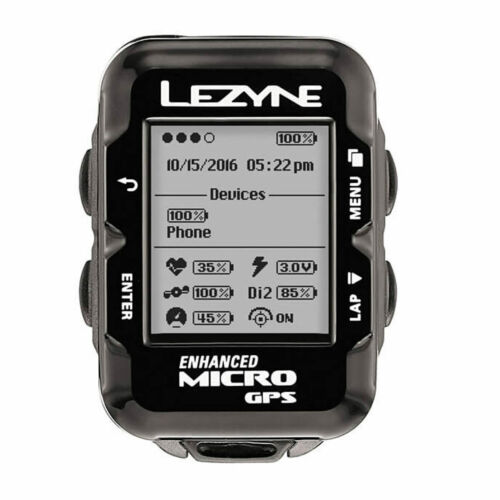 Lezyne Micro GPS Cycling Computer Heart Rate Monitor Loaded Unit USB Chargeable