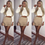 Women-Jacket-2-Piece-Co-Ord-Suede-Twinset-Frill-Ruffle-Blazer-Pencil-Skirt-Party