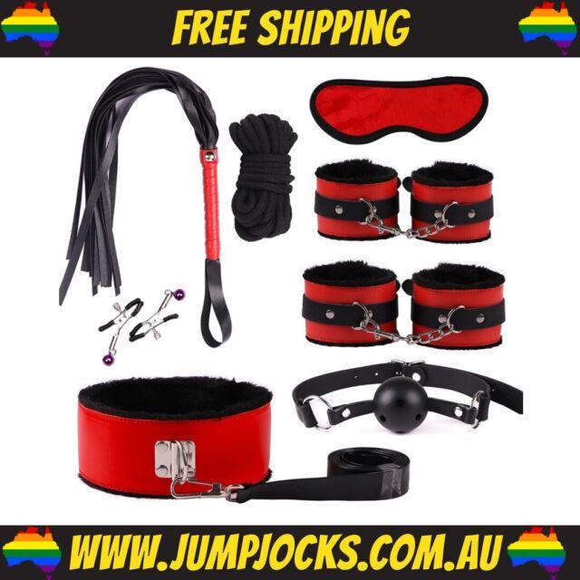 Red Leather Bondage Kit - Sex Toy, Gay, Adult, Fetish, Bondage *FREE SHIPPING*