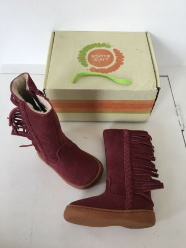 Livie and Luca toddler girls pink Sonoma fringe boots size 4 new