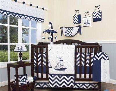 Boys Crib Bedding Blue Sailboat