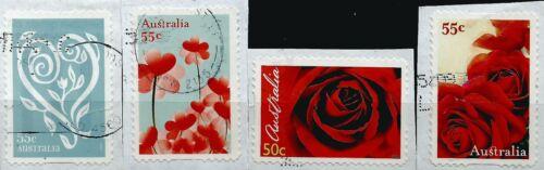 ˳˳ ҉ ˳˳AU543 Australia Complete set 2009 different used Love red Roses
