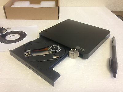 LG GP08 Lite 8x DVD±RW DL USB Slim External Drive Burner Writer Reader CD PC MAC