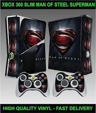 XBOX 360 SLIM CONSOLE STICKER SUPERMAN MAN OF STEEL SKIN  & 2 CONTROLLER SKINS