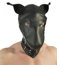 Hund Maske Dog Mask Hood Kopfmaske Leder-Imitat B-Ware