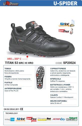 UPOWER SCARPE LAVORO ANTINFORTUNISTICA TITAN S3 SRC HI HRO U-POWER SP20024