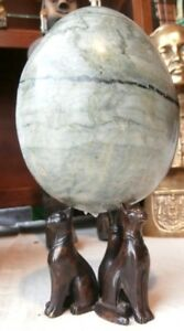 Curiosite-chats-en-bronze-Egypte-oeuf-marbre-Old-cats-marble-egg-egyptian-XIX