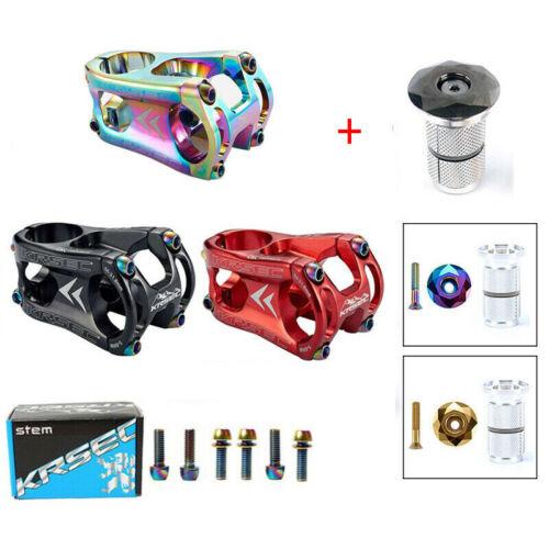 "KRSEC 50mm MTB Stem 31.8mm XD//DH Bike 1-1//8/"" Aluminum Alloy Riser Handlebar Stem"