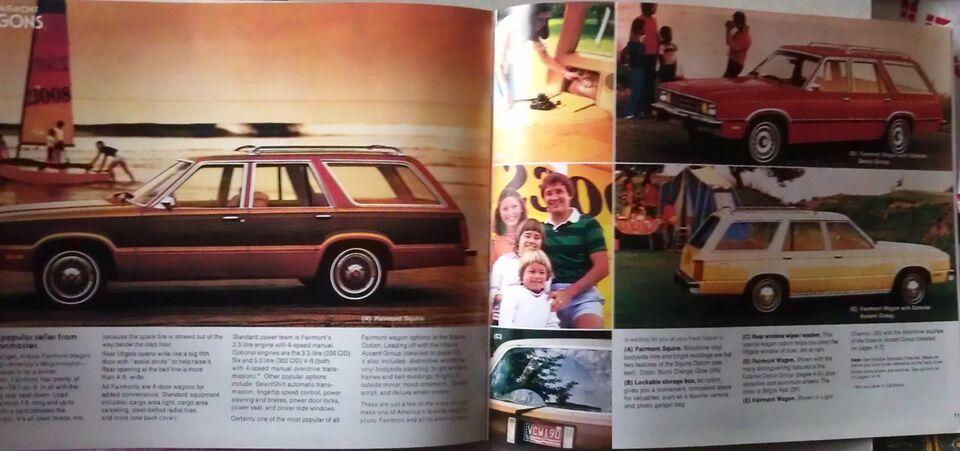 Brochure 1979 Ford Fairmont., Ford, emne: bil og motor