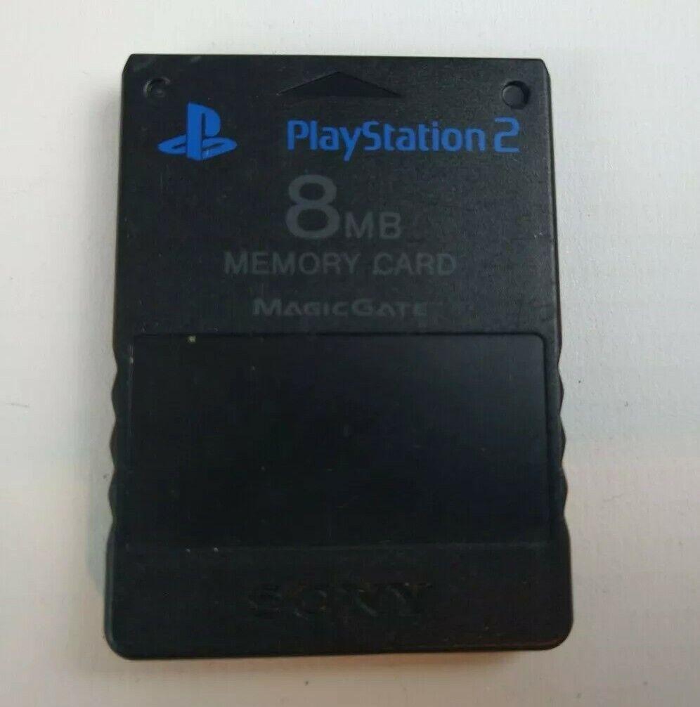 Playstation 2 PS2 8MB Memory card Black