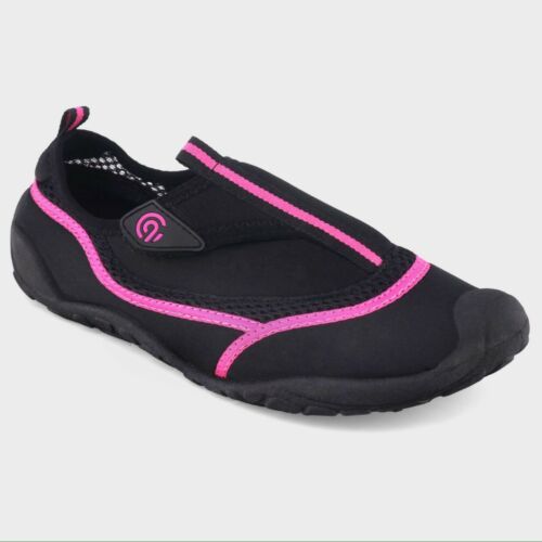 Women/'s Champion Lucille Water Shoes Sz XL 11//12 Black Pink C9 Pool Beach Sporty