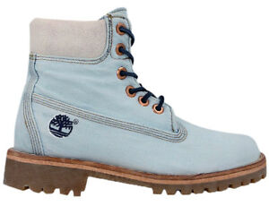 Premium Denim T3cd High A1g83 Timberland Ankle Up Womens Blue Inch Lace 6 Boots XwTTEq1