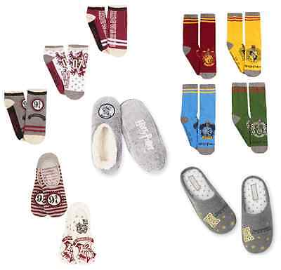 Harry Potter Women's Slippers Hogwarts Socks Primark Gryffindor Slytherin Ladies Collectibles