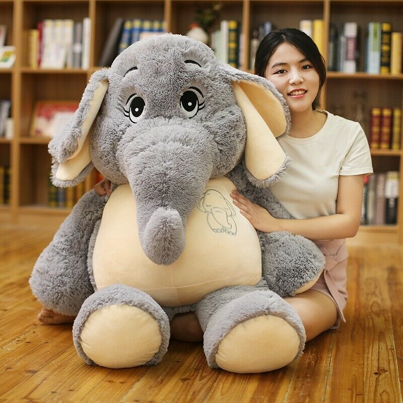 Gran gigante animales salvajes Elefante Peluche Juguetes Muñeca Bebé Animal de Peluche suave nos Regalo