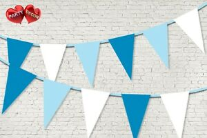 Light-Blue-Royal-Blue-White-Coloured-Bunting-Banner-15-Flags-by-PARTY-DECOR