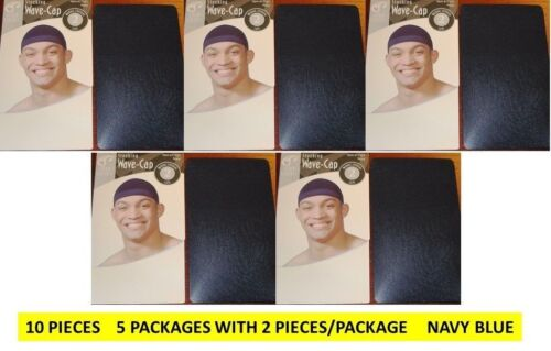 10 PCS BLACK COLORS STOCKING WAVE CAPS DURAG KNIT HIP HOP NYLON DU RAG WIG