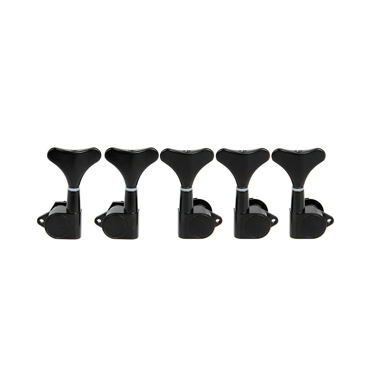 5 string electric bass guitar tuning pegs tuners machine heads sealed 2l3r black ebay. Black Bedroom Furniture Sets. Home Design Ideas