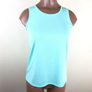 NEW Girls Tank Top Size Small 6-6X Green Micro Mesh Back Athletic Shirt Gym