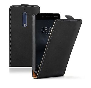 more photos ff893 5004a Details about Membrane Nokia 5 Ultra Slim Case Leather Flip Cover + 2 FILMS