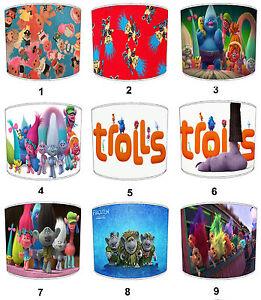Trolls-Pantallas-de-Lampara-Para-Combinar-edredones-Cojines-adhesivo-pared