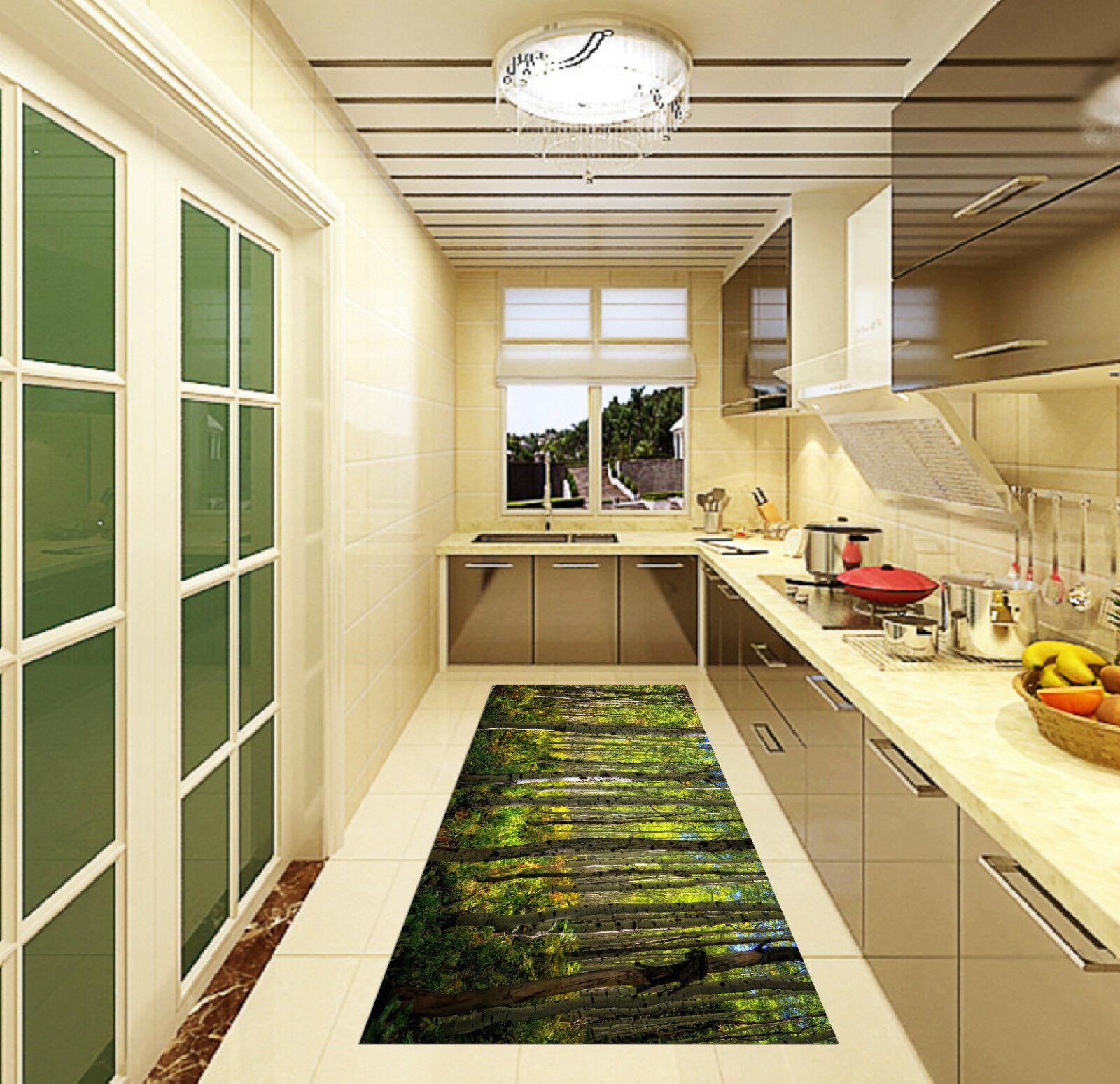 3D Forest Trees 3 Kitchen Mat Floor Murals Wall Print Wall Deco AJ WALLPAPER CA