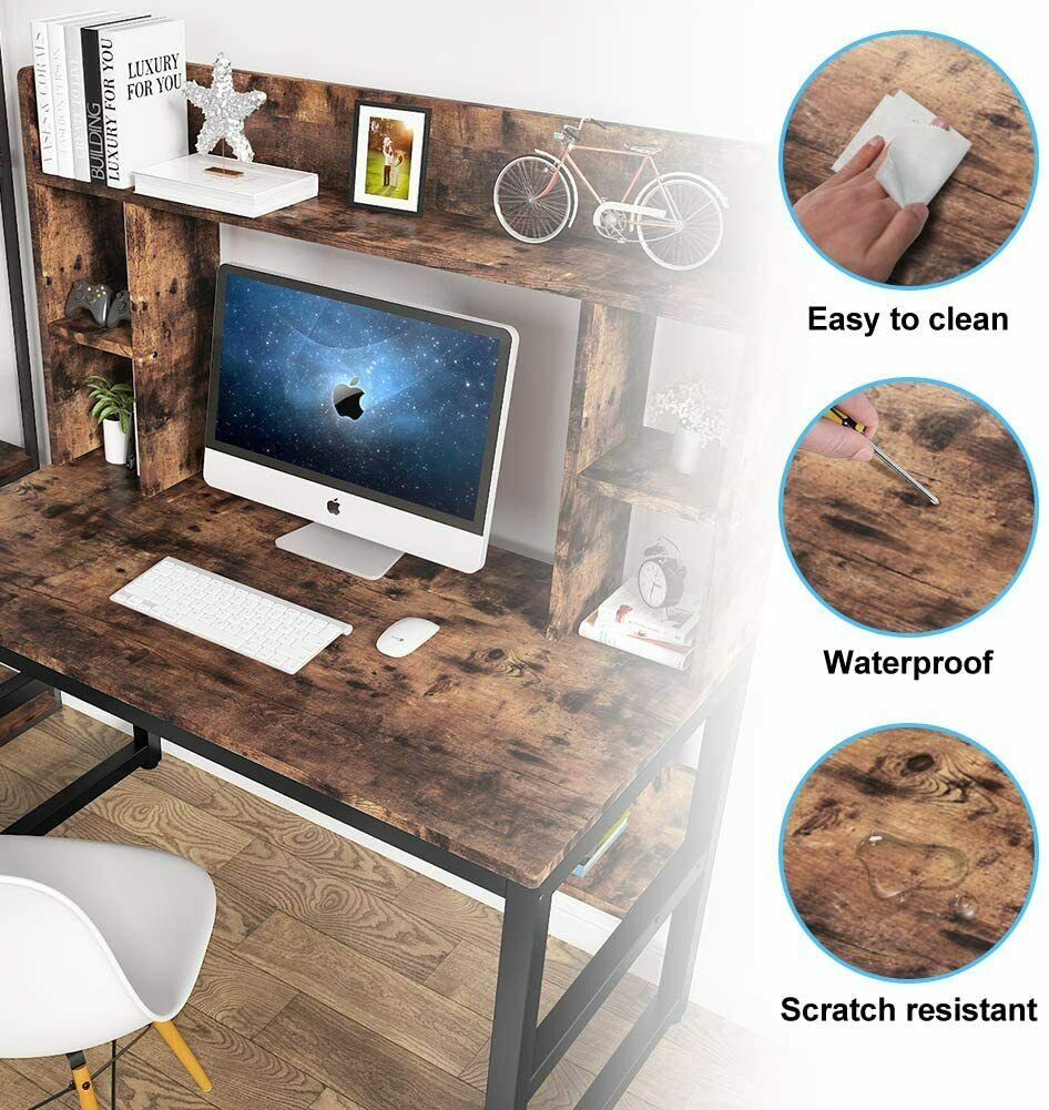 Techni Mobili Modern Computer Desk With Storage Pine For Sale Online Ebay