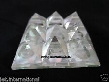 9 Pyramid Plate Crystal Quartz Power Protection Vastu Healing Feng Shui Energy A