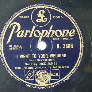 78-record-framed-I-WENT-TO-YOUR-WEDDING-I-WILL-NEVER-CHANGE-dick-james