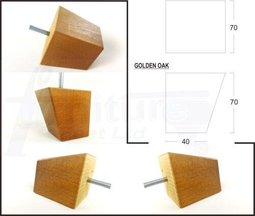 10 mm 4x Meubles en bois pieds de remplacement de jambes pour Sofas Chaises Tabourets lits M10