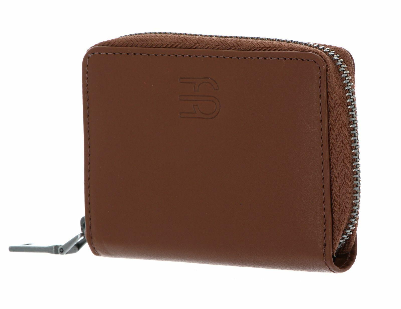 ESPRIT Foc Zip Around Wallet Kredit- / Visitenkartenetui Rust Brown Braun Neu