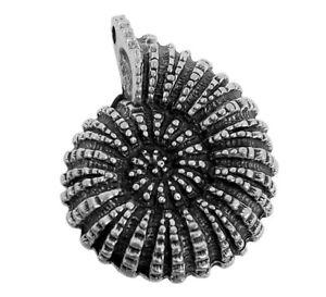 Minott-Collar-Joya-Colgante-Caracol-Laton-Plateado-Aspecto-Usado-27995