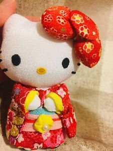 Hello-Kitty-Sanrio-Kimono-Plush-Doll-rare-Red-cute-kawaii-Japan-Limited-new-f-s