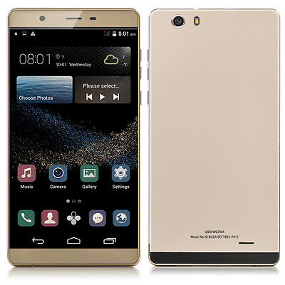 """6.0"""" 3G+GSM GPS Android 4.4 Dual Sim Unlocked Straight Talk AT&T Smartphone WiFi"""