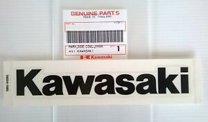Kawasaki Fuel Tank Sticker Badge Emblem Black Uk Stock Genuine Ebay