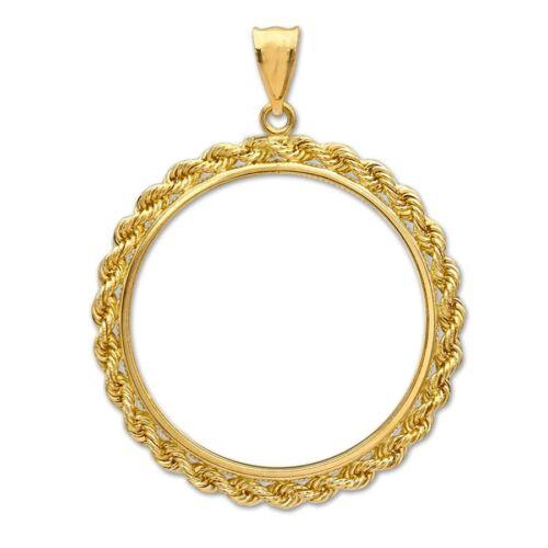 14~KT SOLID GOLD ~ FOR 1//10~OZ GOLD EAGLE ~ SOLID ROPE BEZEL ~2.6 GRAMS~ $134.88