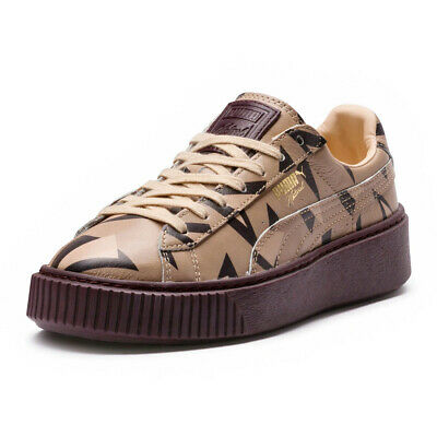 chaussure puma platforme marron