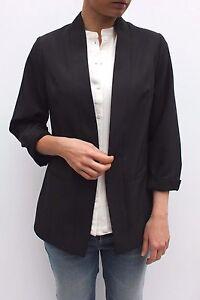 Alanis Blazer Front Studio Jacket Afslappet Smart Work Black 26 Open 12 Fit 8 pYYTxE