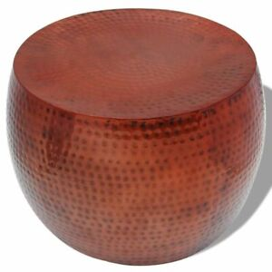 vidaXL-End-Accent-Coffee-Table-Stool-Round-Aluminium-with-Copper-Finish-Brown