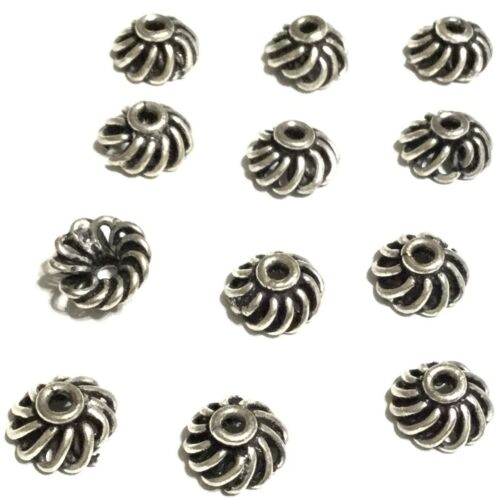 12 PCS Sterling Silver Bali woven wire open Bead caps wholesale prices