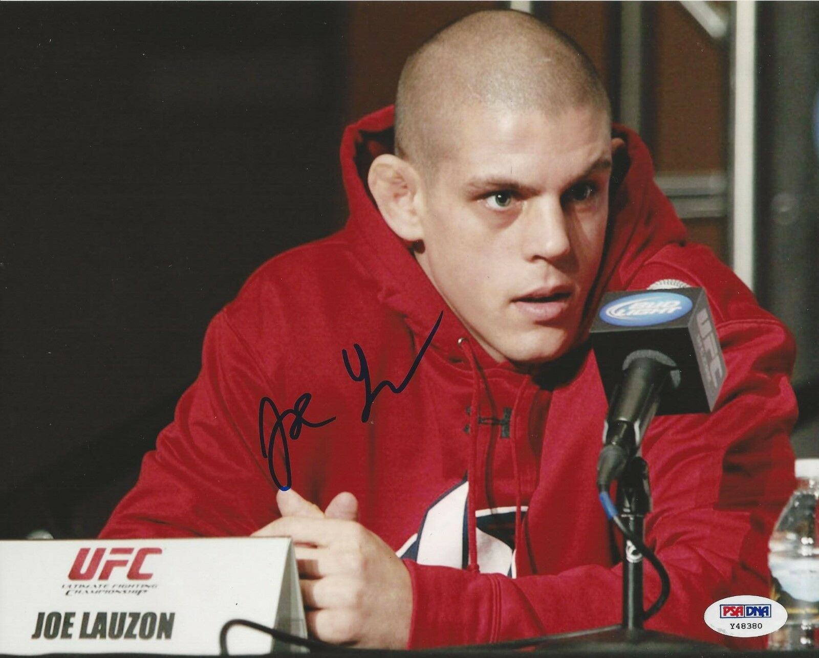 Joe Lauzon UFC Fighter signed 8x10 photo PSA/DNA # Y48380