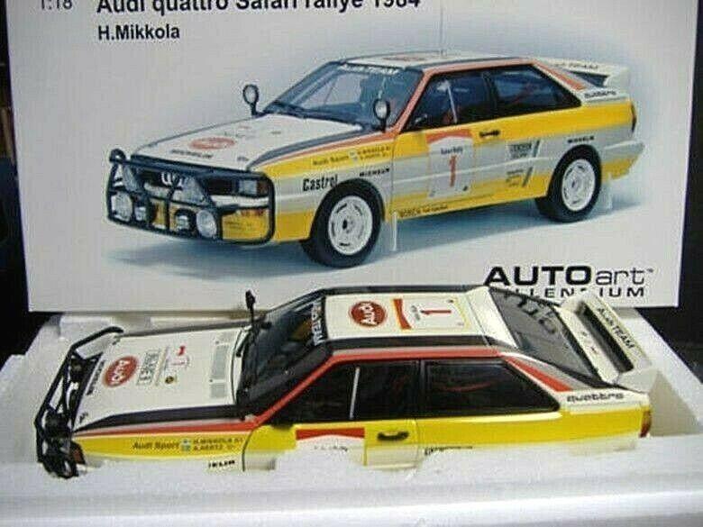 AUDI quattro a2 rallye East African Safari 1984 MIKKOLA + HB Décalques Autoart 1 18