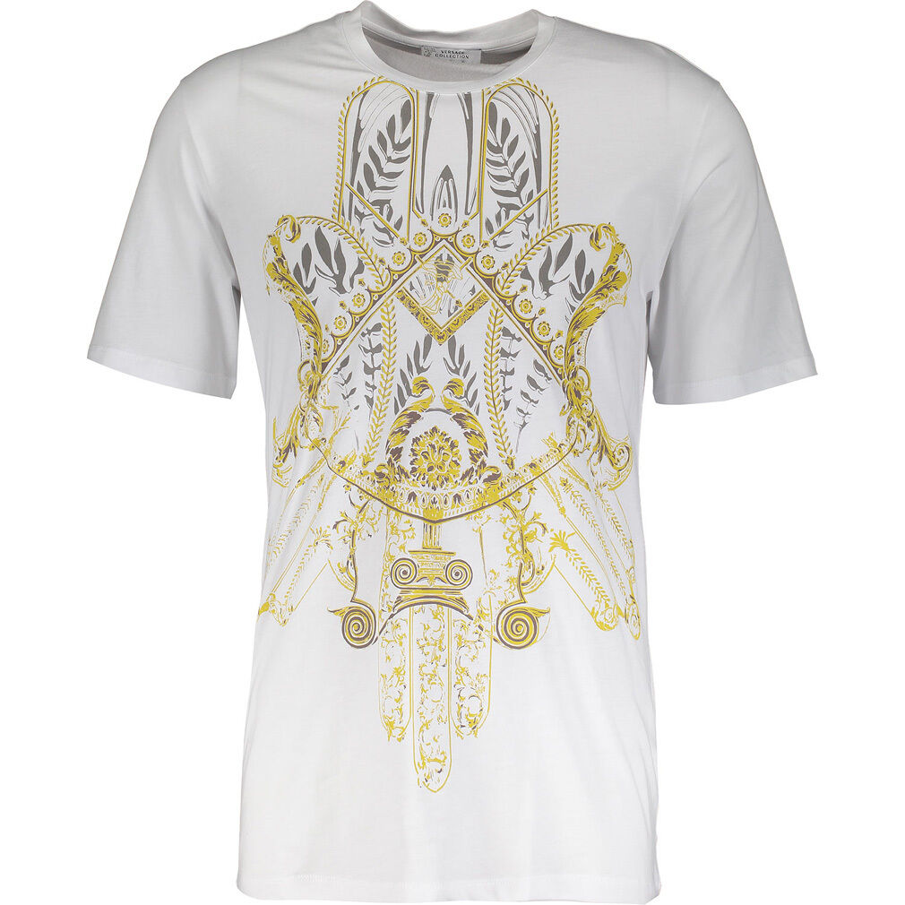 VERSACE COLLECTION Bianco Stampa Print T-Shirt Size M BNWT