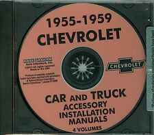 55 56 57 58 59  CHEVY CARS/TRUCKS ACCESSORY INSTALLATION MANUAL ON CD