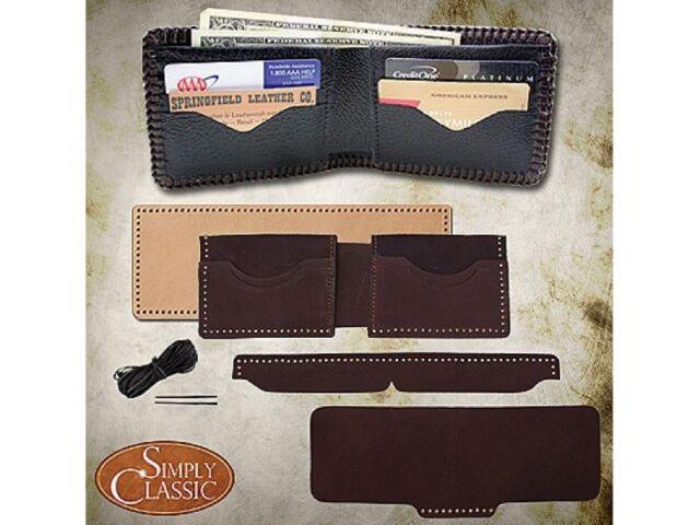 e49a1f13e3 Springfield Leather Company DIY Premium Brown Buffalo 4 Pocket Wallet Kit