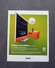 H593 - Advertising Pubblicità -2013- LOEWE HAPPY SOUND BOX