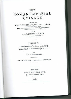 ROMAN IMPERIAL COINAGE VOL VI