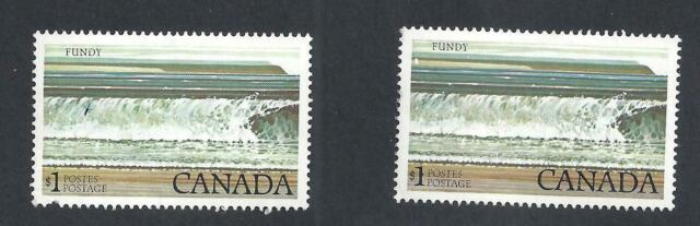 CANADA PRINT ERRORS ON 2 STAMPS SCOTT 727a VF MINT NH (BS18609)