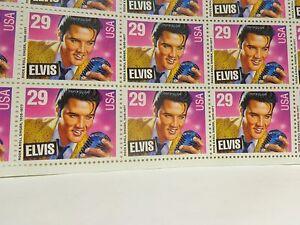 Elvis-Presley-Themed-US-Postage-Stamps-Full-Sheet-29-Cent-Stamps